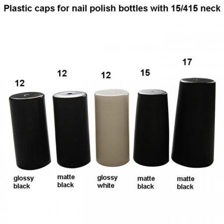 15/415 capuchons en plastique pour vernis à ongles