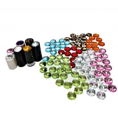 Gemmes acryliques de différentes couleurs