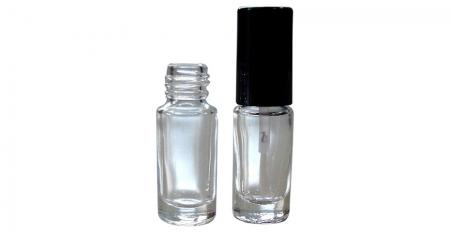 3ml ~ 5ml Nail Polish Glass Bottles - GH08 666: 3ml Cylindrical Shaped Clear Glass Nail Polish Bottle