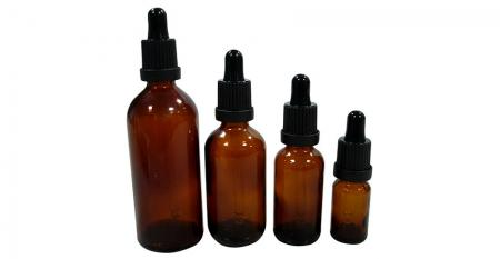5ml ~ 250ml Pharmaceutical Essential Oil Bottles - 5ml ~ 100ml Pharmaceutical Essential Oil Amber Glass Dropper Bottles