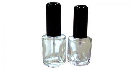 6ml ~ 10ml Nail Polish Glass Bottles - GH26 612 - GH26 660: 10ml and 8ml Round Shaped Clear Glass Nail Polish Bottle