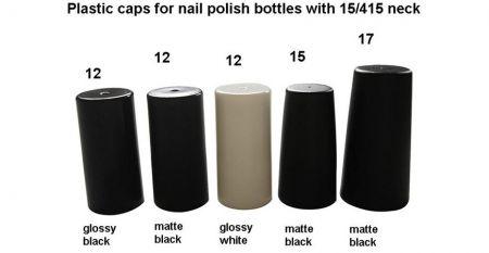 Plastikkappen für Nagellack - Kunststoffkappen für Nagellackflaschen mit 15/415 Hals