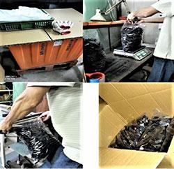 Überprüfung der Verpackung von Kappen