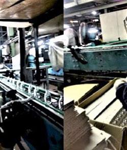 Contrôle des bouteilles en verre sur le processus de production