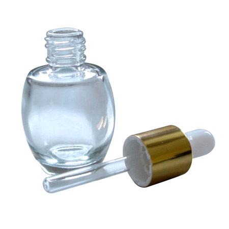 10 ml eiförmige Glastropfflasche