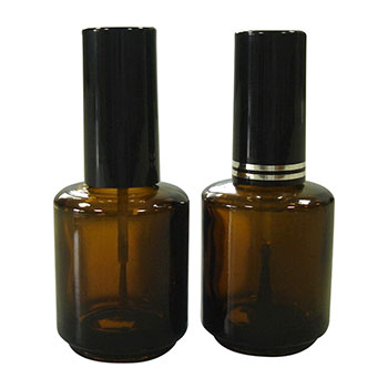 15ml Empty Amber Glass Nail Polish Bottle with Cap and Brush