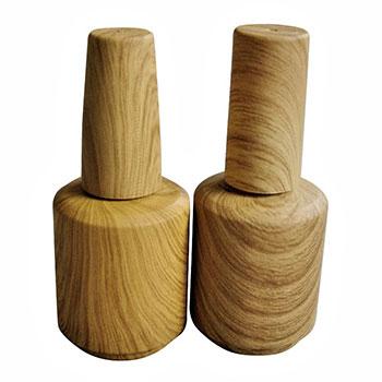 Bouteille en verre à grain de bois de 15 ml