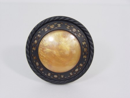 Amber Spindle Vorhang Holdback - curtain_tieback_with_amber_disc