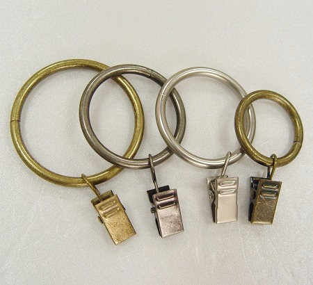 Gordijnring met clip voor raamgordijnstang - curtain_ring_with_clip_for_window_curtain_rod