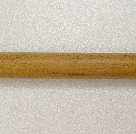 Imitate Wood Metal Curtain Rod - curtain_rod_made_of_iron_in_coating_finish