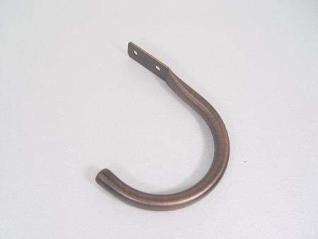"Tieback for 1"" and 1 1/8"" Curtain Finial - j_hook_iron_curtain_holdback"