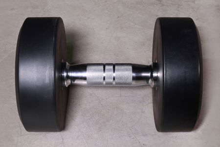 TPU dumbbell with chrome handle