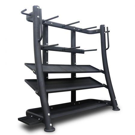 Gym weight storage rack