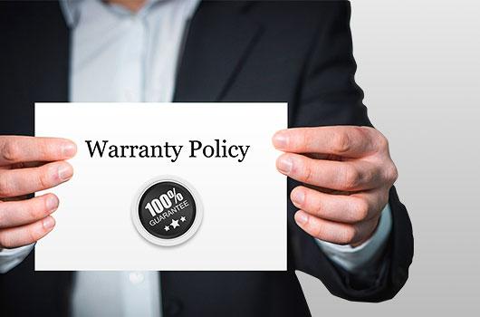 Standard Ambedded Ceph Storage Appliance and SUSE Enterprise storage appliance warranty policy.