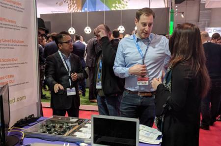 Demostración integrada del dispositivo de almacenamiento Mars 200 ceph en Data and Cloud Expo