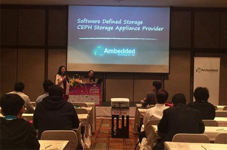 Session de présentation sur le stockage défini par logiciel dans le jour du showcase SIS