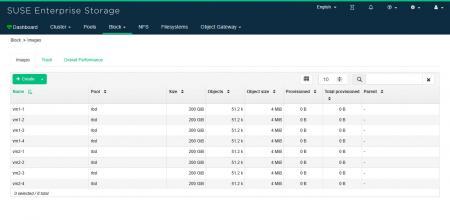 SUSE EnterpriseStorageのイメージステータスを確認する