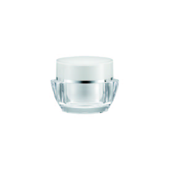 Acrylic Oval Cream Jar, 30ml - VDA-30-D Lily Melody packaging