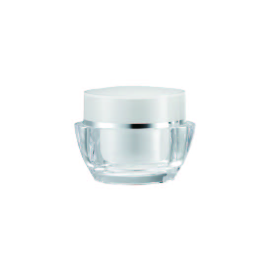 Acrylic Oval Cream Jar, 50ml - VDA-50-D Lily Melody packaging