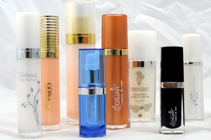 Botella cosmética