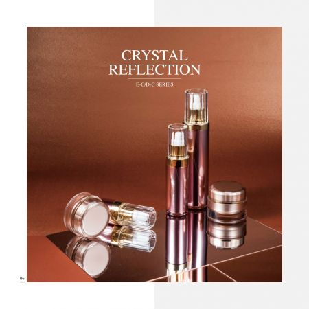 Round Shape Acrylic Luxury Cosmetic & Skincare Packaging - Crystal Reflection serie