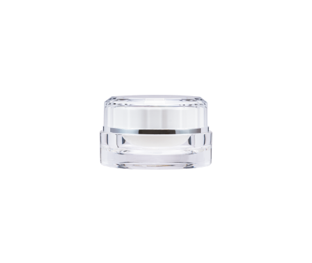 Acrylic Round Cream Jar 10ml - D-10-C Crystal Reflection
