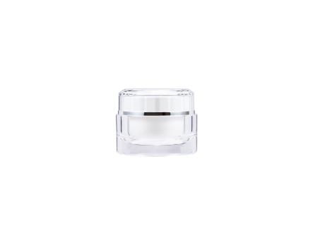 Acrylic Round Cream Jar 50ml - D-50-C Crystal Reflection