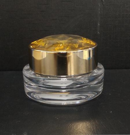 アクリルラウンドクリーム ジャー容器、10ml / 15ml / 20ml - ED-15-DDダイヤモンドフォーエバー