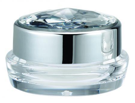 アクリルラウンドクリーム ジャー容器、5ml - ED-5-DDダイヤモンドフォーエバー