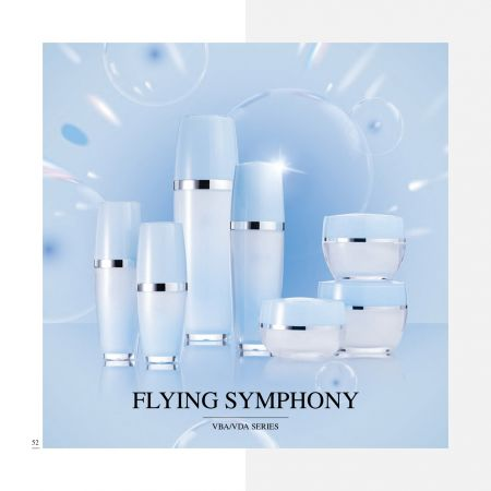 Oval Shape Acrylic Luxury Cosmetic & Skincare Packaging - Luxury Acrylic Skincare Packaging Collection - Flying-Symphony