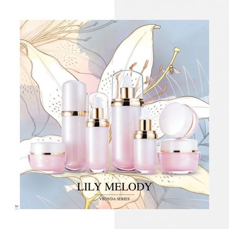 Oval Shape Acrylic Luxury Cosmetic & Skincare Packaging - Luxury Acrylic Skincare Packaging Collection - Lily Melody