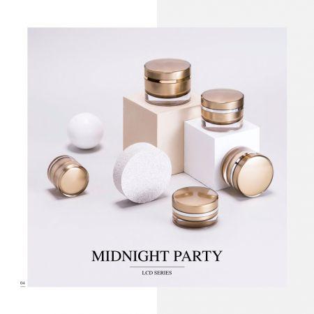 Runde Acrylverpackung für Luxuskosmetik und Hautpflege