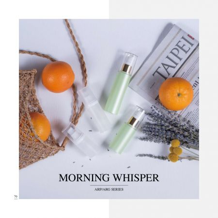 Round Shape Eco PETG & PP Airless Cosmetic & Skincare Packaging - Morning Whisper serie
