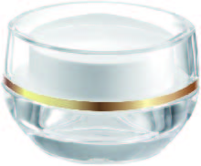 Acrylic Oval Cream Jar, 15ml - VDA-15 Flying Symphony packaging