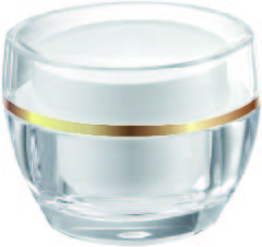 Acrylic Oval Cream Jar, 50ml - VDA-50 Flying Symphony packaging