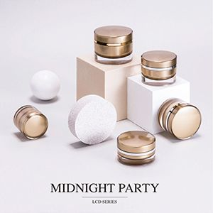Round Acrylic Skincare Packaging - Midnight Party