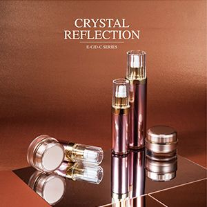 Round Acrylic Skincare Packaging - Crystal Reflection