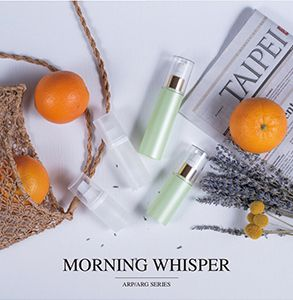 Round PP & PETG Airless Skincare Packaging - Morning Whisper