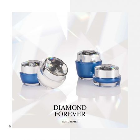 Round / Square Shape Acrylic Luxury  Cosmetic & Skincare packaging - Diamond Forever serie