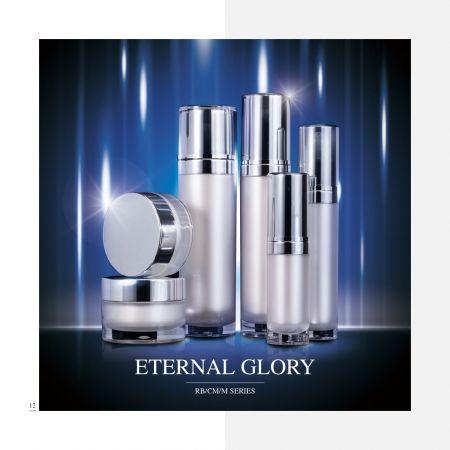 redondo Forma Acrílico Lujo Cosmético y Cuidado de la Piel Envase - Serie Gloria eterna - Cosmético Envase Colección - Eternal Glory