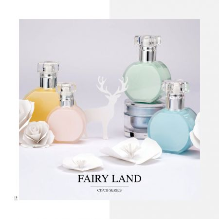 Round Shape Acrylic Cosmetic & Skincare Packaging - Fairy Land serie