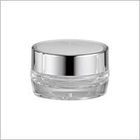 Jar Krim Bulat Akrilik, 15ml - HD-15 Metal Planet (Kemasan Kosmetik Akrilik Putaran Logam)