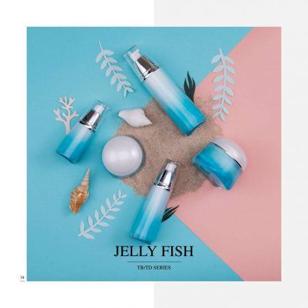 Forma de tienda Acrílico Cosmético y cuidado de la piel de lujo      Envase - Serie Jelly Fish
