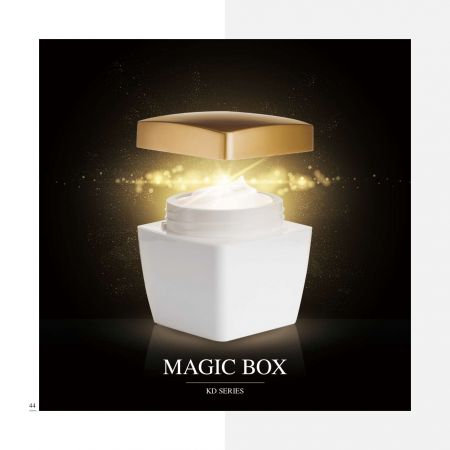 スクエア シェイプ アクリル ラグジュアリー コスメティック & スキンケア パッケージ - マジック ボックス シリーズ - 高級アクリル化粧品パッケージ コレクション - マジック ボックス