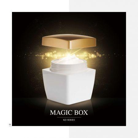 スクエアシェイプアクリルラグジュアリーコスメティック&スキンケアパッケージ-マジックボックスセリエ - 高級アクリル化粧品パッケージコレクション-マジックボックス