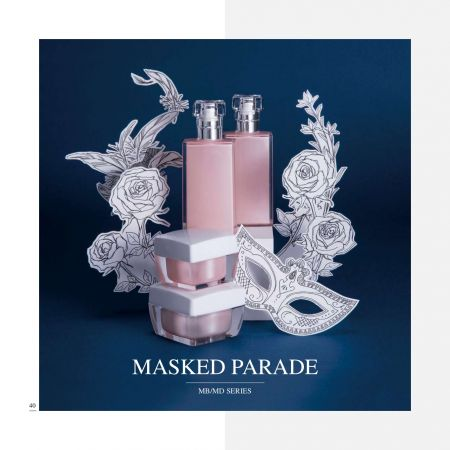 Masked Parade (Square Acrylic Cosmetic Packaging) - Cosmetic Packaging Collection - Masked Parade