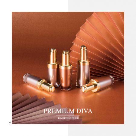 Cosmético y cuidado de la piel cosmético cosmético de acrílico de lujo      Envase - Serie Premium Diva