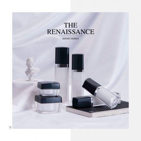 スクエアシェイプアクリルラグジュアリーコスメティック&スキンケアパッケージ-ルネッサンスセリエ - 化粧品パッケージコレクション-ルネッサンス