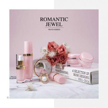 Cosmético y cuidado de la piel de lujo acrílico de forma ovalada      Envase - Serie Joya Romántica