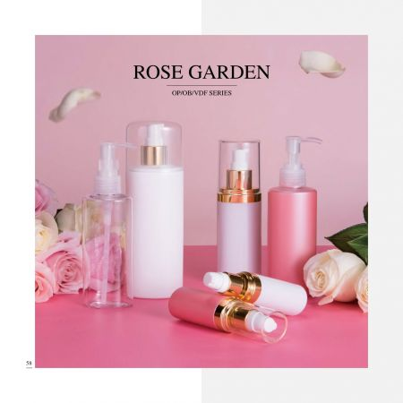 Oval Shape ECO PETG & PP Cosmetic & Skincare Packaging - Rose Garden serie